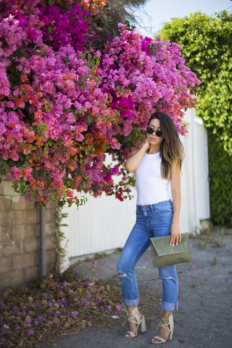 LOVE OR MONEY | White Bodysuit & Boyfriend Jeans | by Emily Tong 6