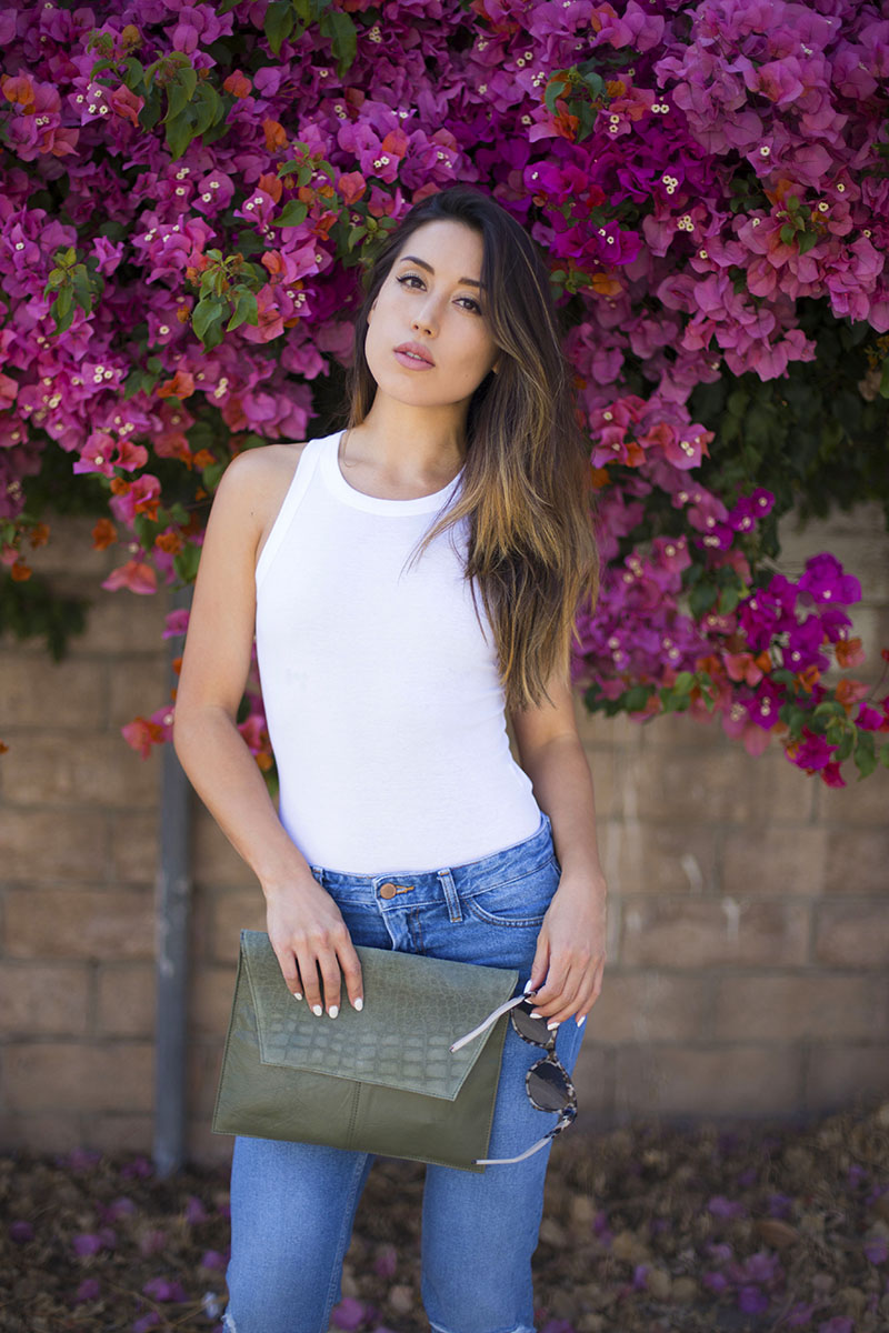 LOVE OR MONEY | White Bodysuit & Boyfriend Jeans | by Emily Tong 9