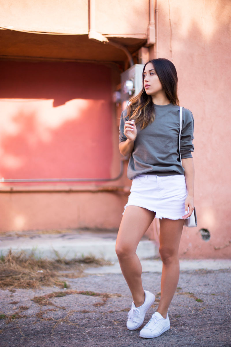 Love Or Money | White Denim Skirt | Summer Outfit 0