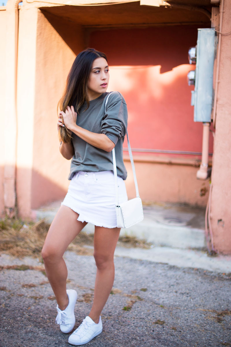 Love Or Money | White Denim Skirt | Summer Outfit 3
