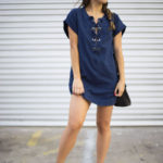 Little Denim Lace-Up Dress