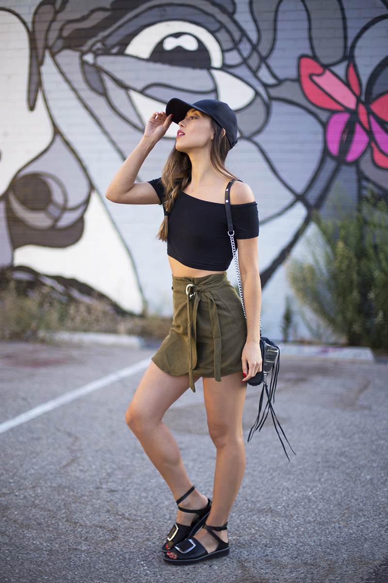 LOVE OR MONEY by Emily Tong | Olive Wrap Skirt | Casual Summer Outfit 0