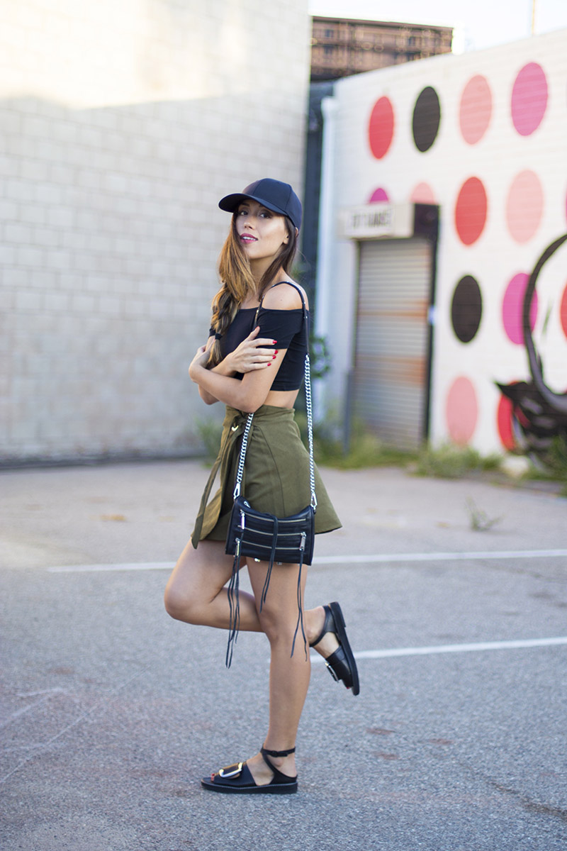 LOVE OR MONEY by Emily Tong | Olive Wrap Skirt | Casual Summer Outfit 2