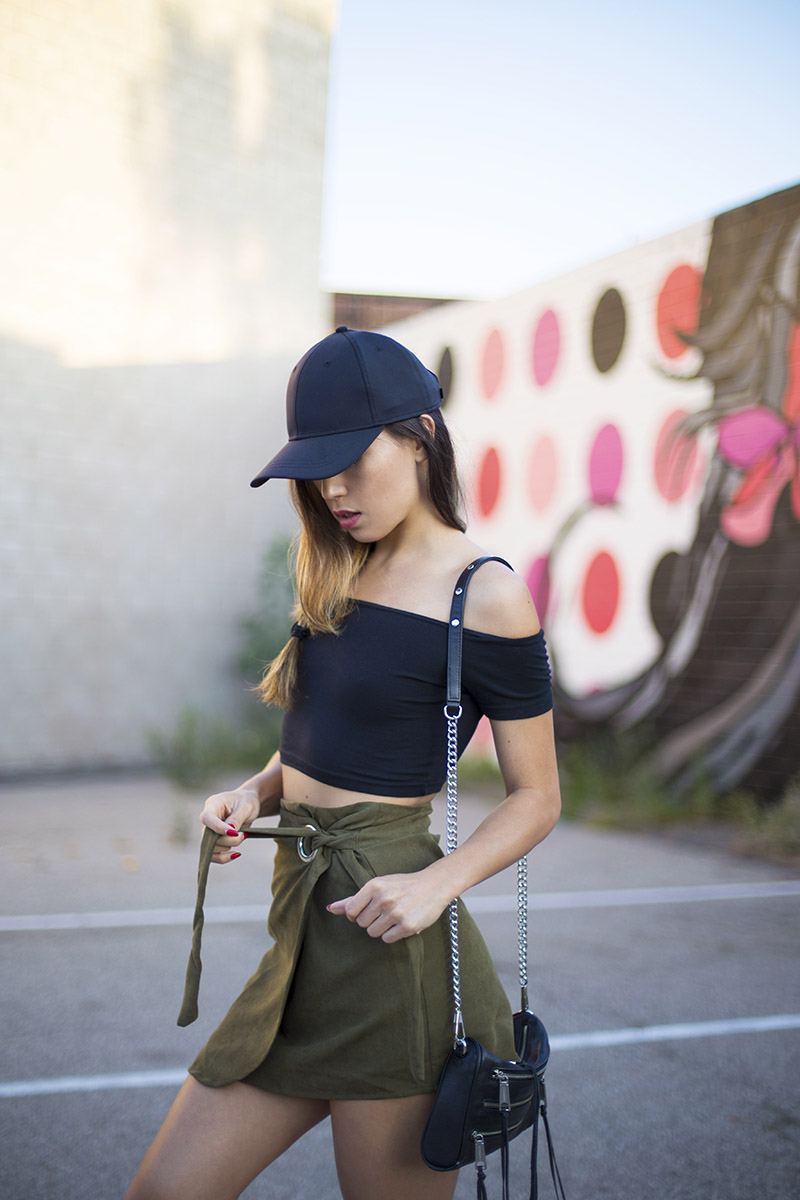 LOVE OR MONEY by Emily Tong | Olive Wrap Skirt | Casual Summer Outfit 3