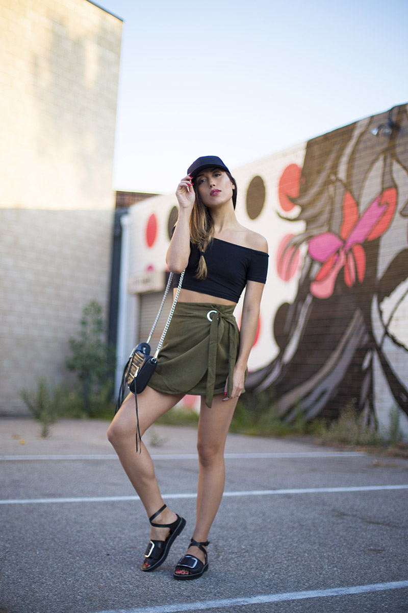 LOVE OR MONEY by Emily Tong | Olive Wrap Skirt | Casual Summer Outfit 4