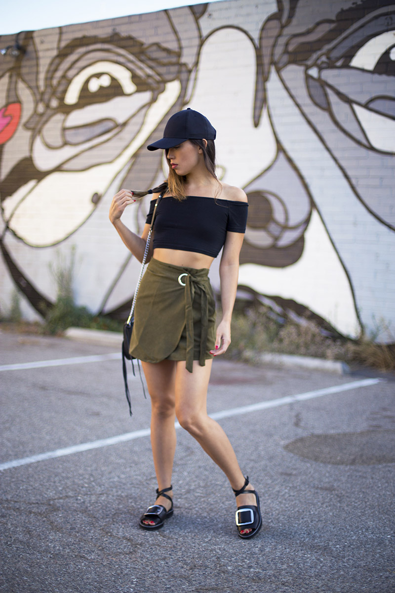 LOVE OR MONEY by Emily Tong | Olive Wrap Skirt | Casual Summer Outfit 6