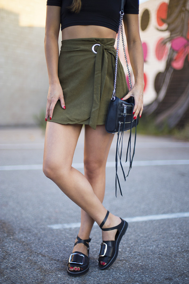 LOVE OR MONEY by Emily Tong | Olive Wrap Skirt | Casual Summer Outfit 7