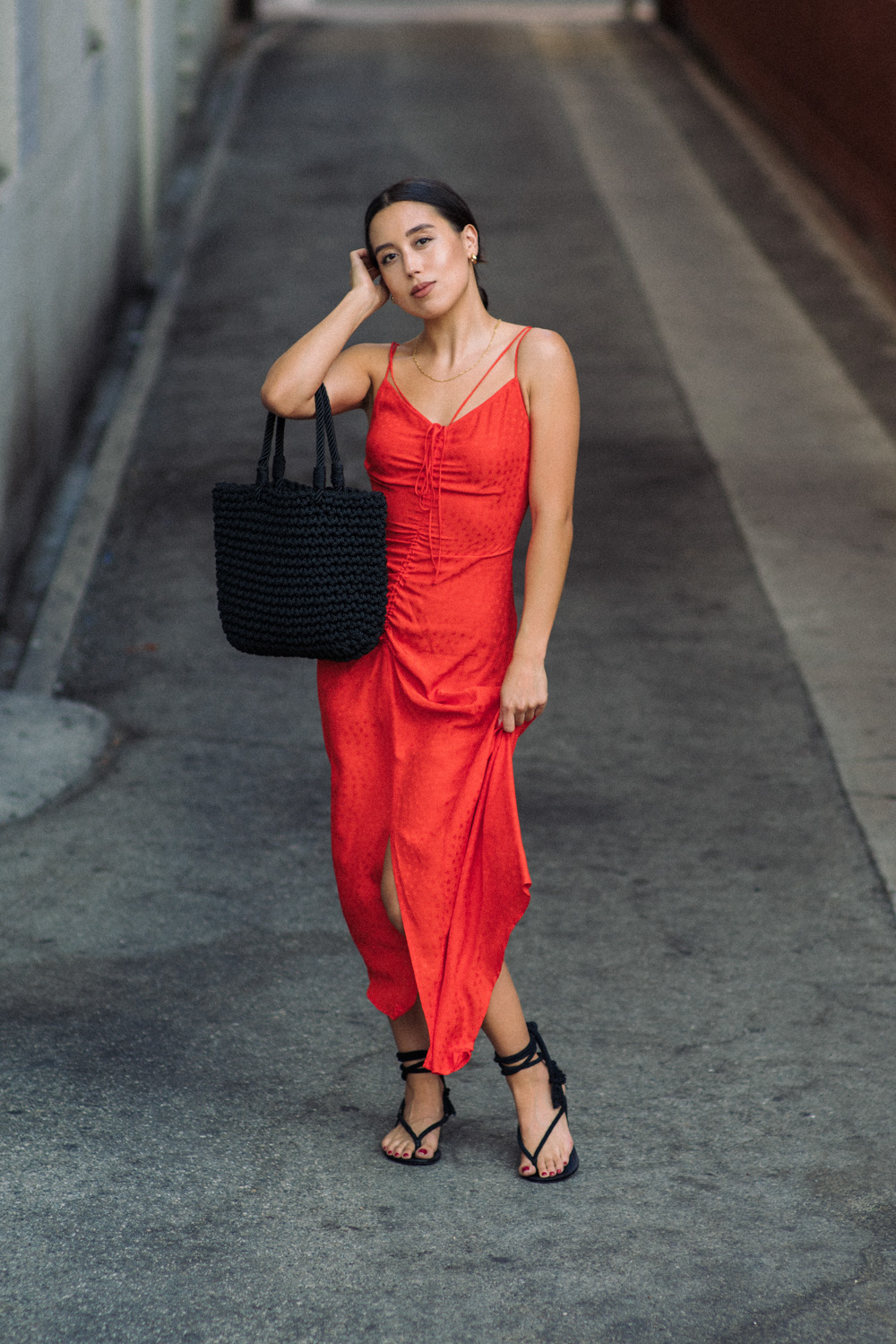 LOVE OR MONEY by Emily Tong wearing Topshop slip dresses for summer