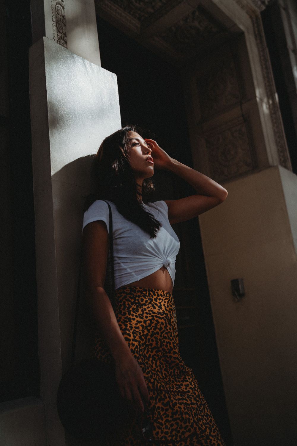 LOVE OR MONEY by Emily Tong wearing & other stories leopard skirt