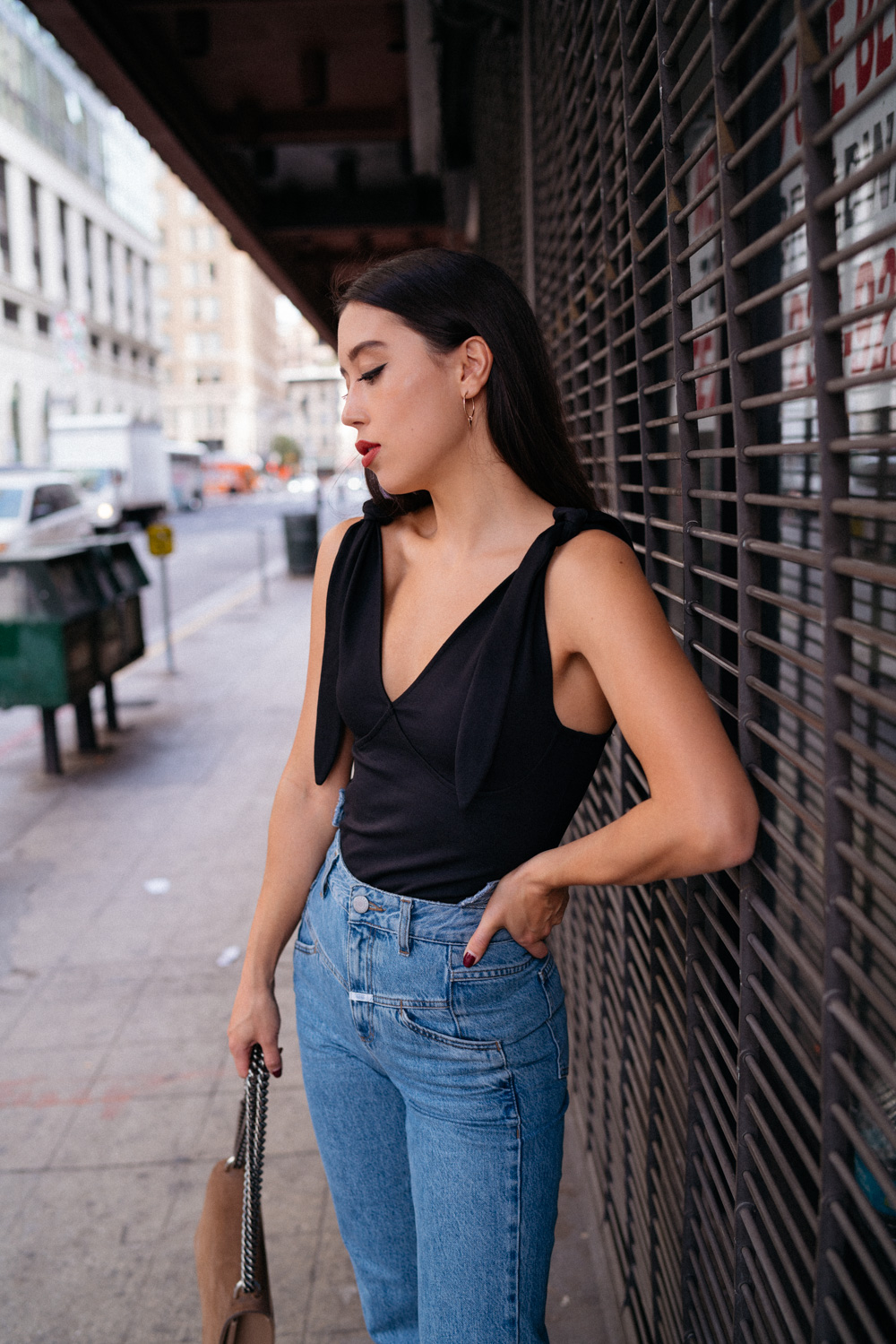 LOVE OR MONEY by Emily Tong wearing Closed mom jeans and Zara cowboy boots