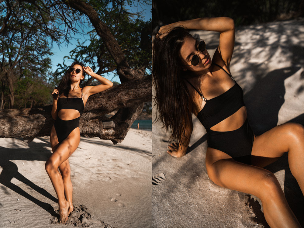 LOVE OR MONEY by Emily Tong wearing Hawaii vacation looks and slate swim one piece