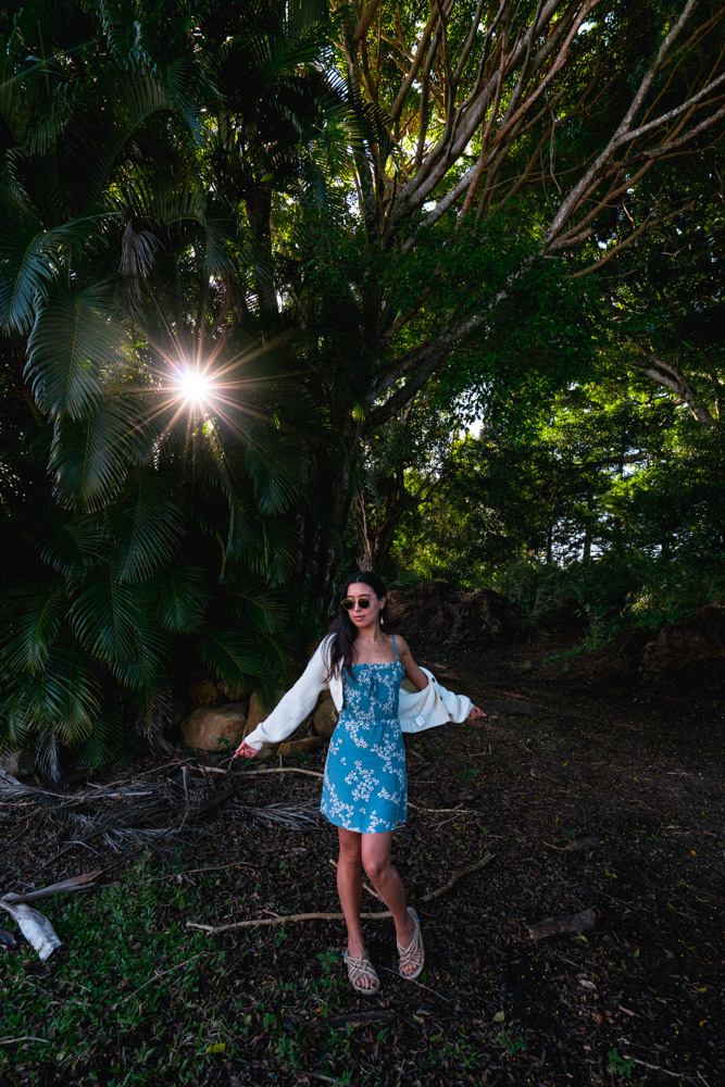 LOVE OR MONEY by Emily Tong wearing Hawaii vacation looks and faithfull the brand mini dress