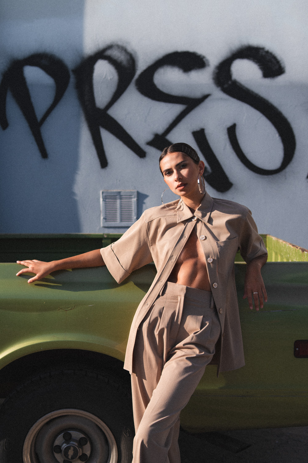 Styling and Photography by Emily Tong with Lauren Umansky wearing Zara and vintage